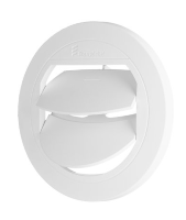 Air duct closing D 75 / 90mm white